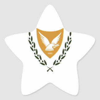 Cyprus Coat of Arms Star Sticker