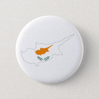 cyprus country flag map shape silhouette symbol 6 cm round badge