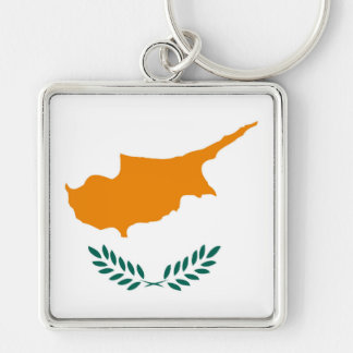 Cyprus country flag symbol long key ring