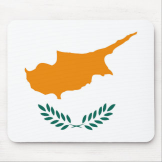 Cyprus country flag symbol long mouse mat