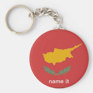 Cyprus cypriot flag keychain