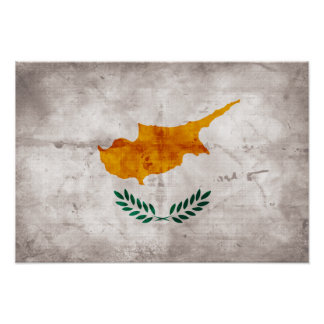 Cyprus Cypriot Flag Poster