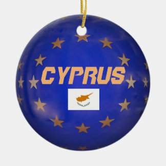 Cyprus E.U. Custom Christmas Ornament