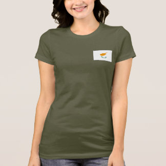 Cyprus Flag and Map dk T-Shirt