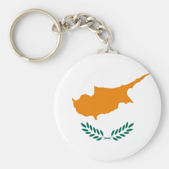 Cyprus Flag Basic Round Button Key Ring