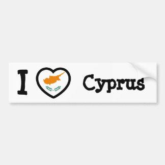 Cyprus Flag Car Bumper Sticker