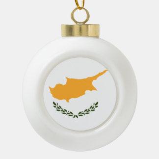 Cyprus Flag Ceramic Ball Decoration