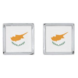 Cyprus Flag Cufflinks Silver Finish Cuff Links