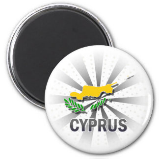 Cyprus Flag Map 2.0 Magnet