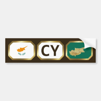 Cyprus Flag Map Code Bumper Sticker