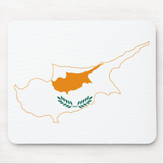 Cyprus Flag map CY Mouse Pad