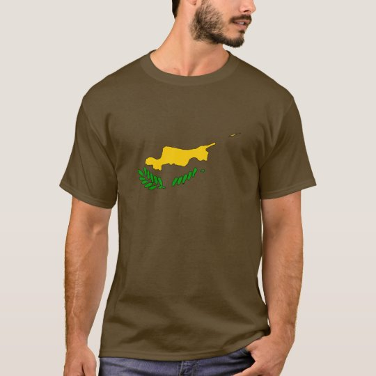 Cyprus flag map T-Shirt