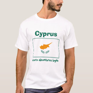 Cyprus Flag + Map + Text T-Shirt