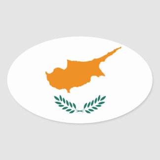 Cyprus Flag Oval Sticker