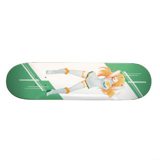 Cyprus Manga girl dressed in Flag - Cypriot Custom Skateboard