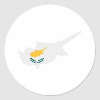 Cyprus map flag stickers