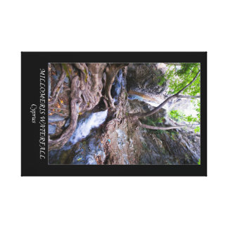 Cyprus Millomeris waterfall Canvas Print