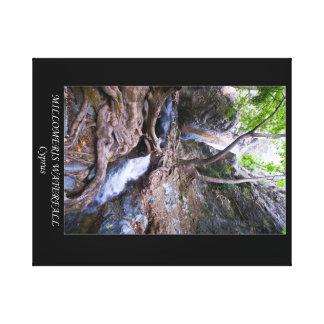 Cyprus Millomeris waterfall poster Canvas Print