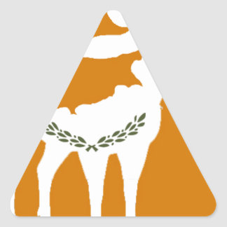 CYPRUS NATIONAL RAM TRIANGLE STICKER