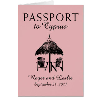 Cyprus Paphos Wedding Passport Card