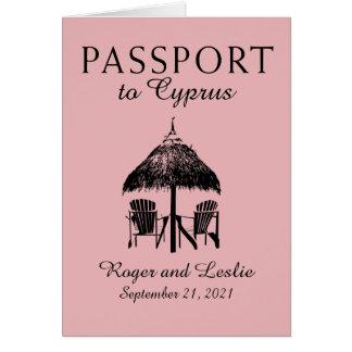 Cyprus Paphos Wedding Passport Note Card