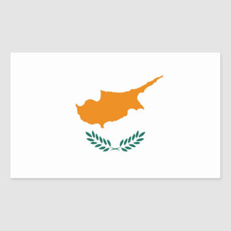 CYPRUS RECTANGULAR STICKER