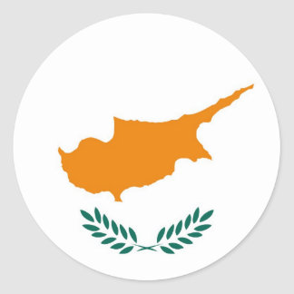 CYPRUS ROUND STICKER