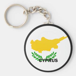 Cyprus Roundel quality Flag Basic Round Button Key Ring