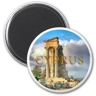 Cyprus ruins 6 cm round magnet