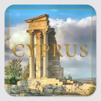 Cyprus Square Sticker