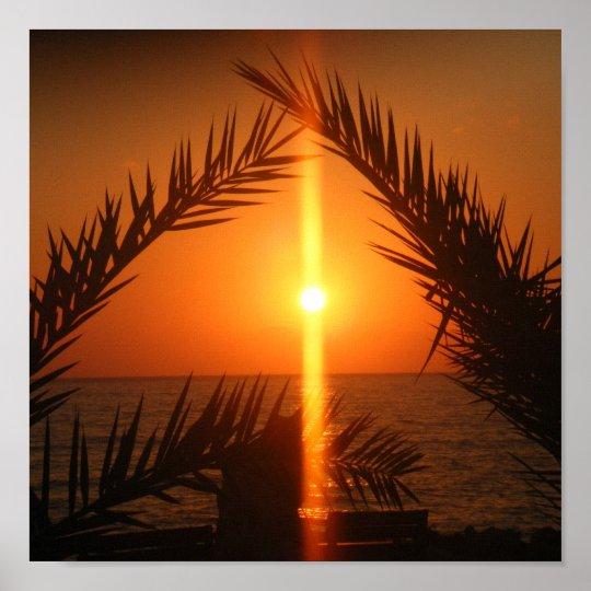 Cyprus Sunset Scene Poster