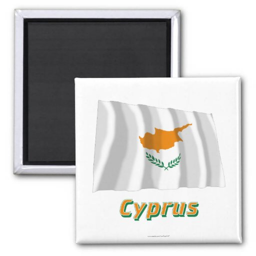 Cyprus Waving Flag with Name Magnet