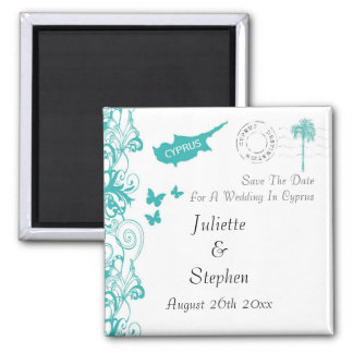 Cyprus Wedding Save The Date Magnet