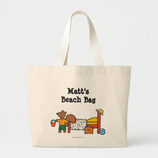 Cyril the Squirrel on Vacation Jumbo Tote Bag