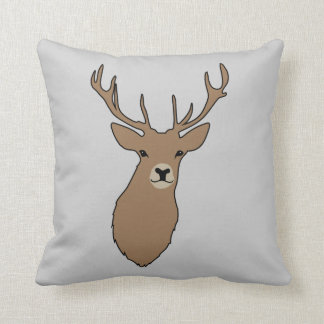 Cyril the Stag Grey Cushion Pillow