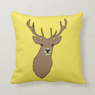 Cyril the Stag Mustard Cushion