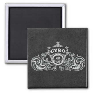 Cyro Mild Cigars Vintage Label Square Magnet