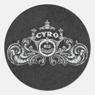 Cyro Mild Cigars Vintage Smoking  Label Round Sticker