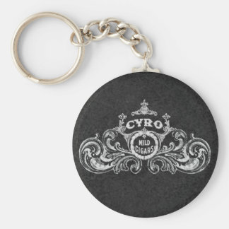 Cyro Mild Cigars Vintage Tobacco  Label Basic Round Button Key Ring