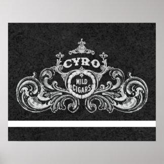 Cyro Mild Cigars Vintage Tobacco Label Poster