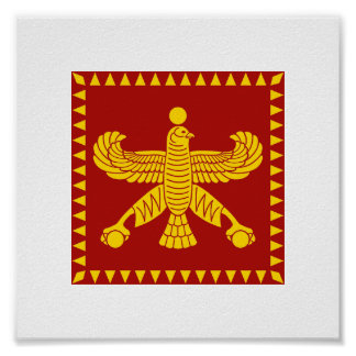 Cyrus the Great Standard Flag Poster