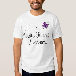 Cystic Fibrosis Butterfly Awareness T-shirts