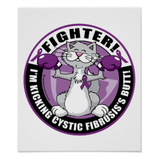 Cystic Fibrosis Cat Fighter Poster