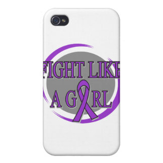 Cystic Fibrosis Fight Like A Girl Circular Cover For iPhone 4