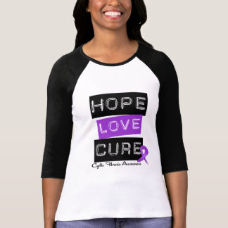 Cystic Fibrosis Hope Love Cure Tee Shirt