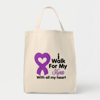 Cystic Fibrosis I Walk For My Hero Canvas Bag