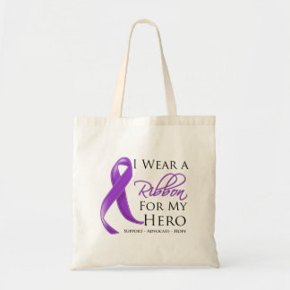 Cystic Fibrosis I Wear a Ribbon For My Hero Canvas Bag