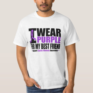 Cystic Fibrosis I Wear Purple For My Best Friend T-Shirt