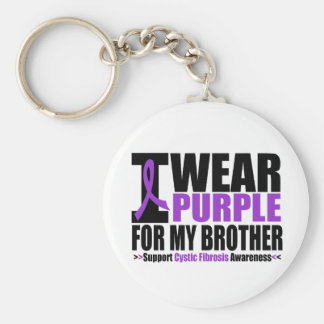 Cystic Fibrosis I Wear Purple For My Brother Keychain
