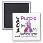 Cystic Fibrosis I Wear Purple For My Granddaughter Fridge Magnet
